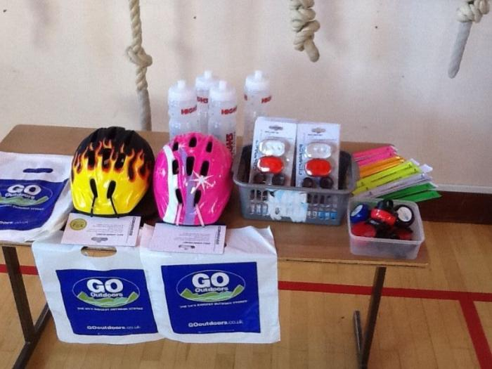 A few of the brilliant prizes donated by Go Outdoors & Sustrans