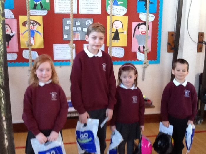 Our Foundation & Key Stage 1 winners Maddie, Connor, Iona and Adam.